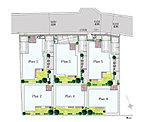 安心の高台に全6邸。3駅2路線利用可能!
