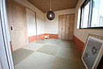 【和室 】 琉球畳と壁紙の貼り分けがポイント!