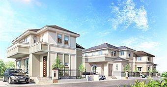 【完成していく街並み】優美な邸宅デザインとゆとりの間取りが、117家族のゆたかな夢を育みます。
