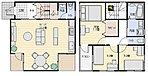 2階に浴室を作ることで、約20畳の大きなリビングが可能に。