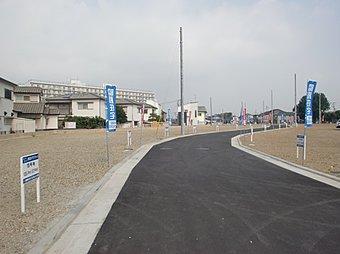 現地写真。全44区画の大型の子育てタウン誕生!