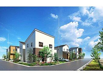 新街区HANAブロック。絵画的な美しい景観を描く、街区の顔にふさわしい街並みをデザイン。