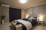 8.5帖のゆとりある寝室。3.0帖のウォークインクローゼット付で収納力も抜群。