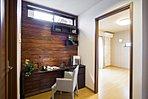 廊下のデッドスペースを有効活用し趣味のスペースに。
