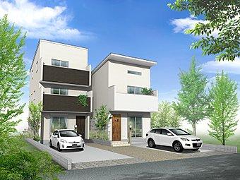 スタイリッシュな洗練された外観 (イメージCG)東和建設はいつまでも家族が明るく暮らせる居心地のよい空間をご提案いたします。
