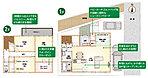 【間取り】LDKは和室を合わせると22.3帖の大空間となります!