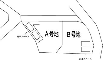 区画図(A号地、B号地)