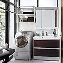 女性必見!!洗面化粧台にLEDライトで、メイクのし易さ想像以上です!!
