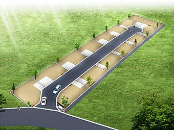 県内最大級のターミナル駅、JR総武快速線「津田沼」駅徒歩17分!全15棟の新しい街並が登場、安心の高台平坦地!ライフラインは全て新設の開発分譲地!分譲地イメージパース