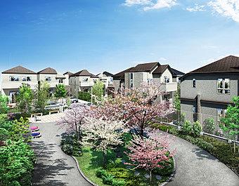 外観完成予想図 「全42邸の新街区」