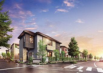 外観完成予想図 「全25邸の新街区」
