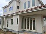 建物プラン例(H28年11月完成のモデルハウスです!白い外壁と屋根の色合いが南欧風~)