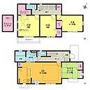 LDK15.63帖 カウンターキッチン タタミルーム 屋根裏収納 主寝室8帖