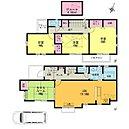 タタミルームのある4LDK カウンターキッチン LDK16.5帖 主寝室8帖 屋根裏収納