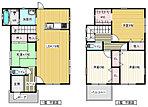 2号棟間取り図。全室照明と各部屋大型収納付き。