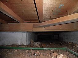 住宅の瑕疵(雨漏り、構造部分の欠陥や腐食など)は弊社が引き渡しから2年間保証します。その前提で床下まで確認の上でリフォームし、シロアリの被害調査と防除工事も行っています。