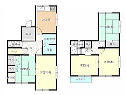 こちらは間取り図です。5DKと部屋数が豊富なので、ご家族の多い方にもおすすめです。