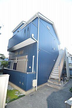 アパート-横浜市西区久保町 綺麗なブルーの外観