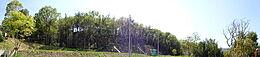 パノラマ写真。山林の方角をパノラマ写真で撮影しました。