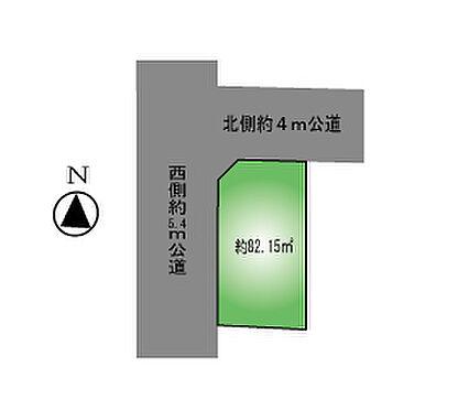 アパート-足立区梅田1丁目 土地区画図