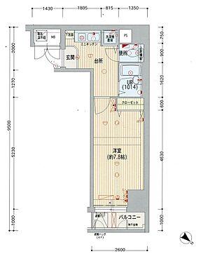 マンション(建物一部)-神戸市中央区海岸通4丁目 間取り
