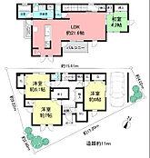 住友不動産の建物プラン1建物価格:3000万円(税込、外溝工事費用別)