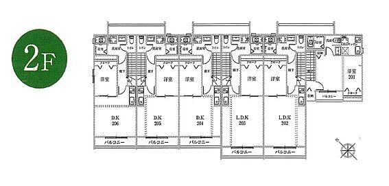 アパート-新宿区若葉1丁目 2階間取り図です。