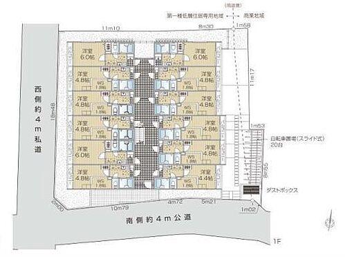 アパート-杉並区阿佐谷北3丁目 1階間取図面・敷地図