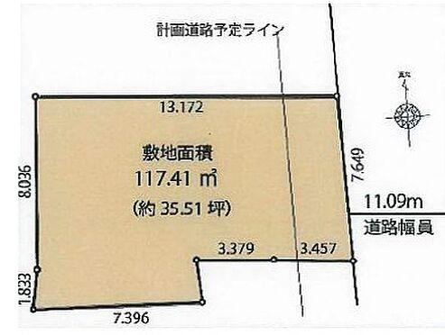 土地-世田谷区代沢4丁目 区画図