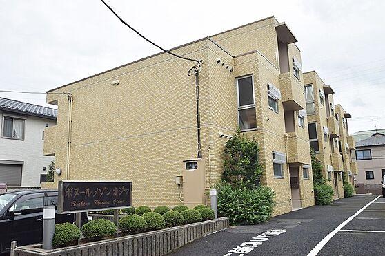 マンション(建物全部)-松戸市新松戸北1丁目 温かみのある色合いのタイルで雰囲気の良い外観。