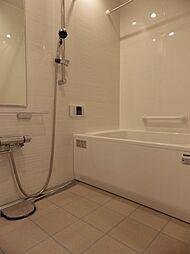 浴室換気乾燥暖房機、手摺りやミラー付の快適なバスルームです。