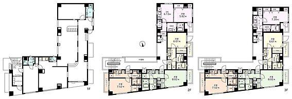 マンション(建物全部)-新宿区百人町1丁目 1階が現状は1店舗で営業をしていますが、将来的には2店舗に分割することもできます。(詳細はご相談下さい)
