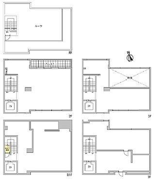 事務所(建物全部)-港区南青山6丁目 賃借人が退去後、3テナントまで分割可能