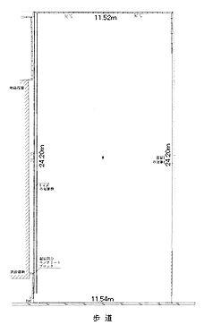 土地-大阪市東住吉区駒川2丁目 区画図
