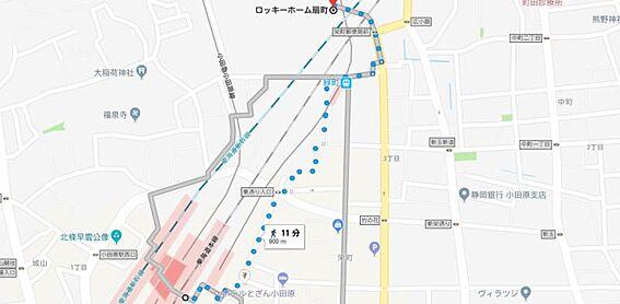 マンション(建物一部)-小田原市扇町1丁目 地図