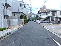 前面道路含む現地土地写真