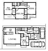 建物プラン例(E区画)4LDK、建物価格979万円、建物面積89.94m2