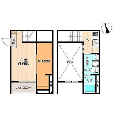 アパート-名古屋市港区港栄3丁目 全室角部屋が嬉しい。二階建ての間取り