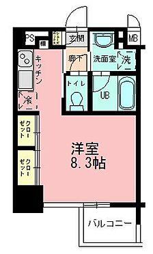 マンション(建物一部)-神戸市中央区古湊通2丁目 神戸市中央区 区分マンション 間取り図