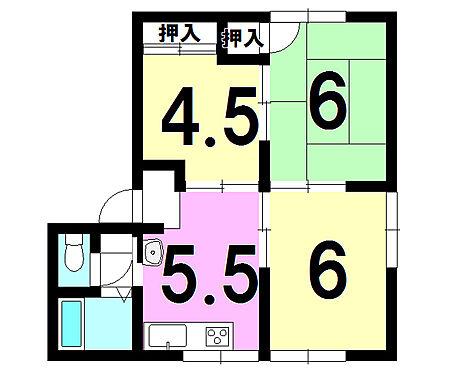 アパート-福山市駅家町大字倉光 間取り