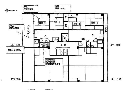 マンション(建物全部)-大阪市都島区高倉町1丁目 間取り