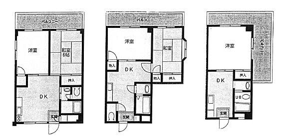 マンション(建物全部)-相模原市南区南区東林間 間取り