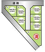 区画図・末広町・全7区画・敷地40坪以上