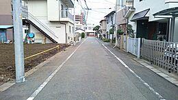 昭島市朝日町3丁目 前面道路含む現地写真 (2016年9月撮影)
