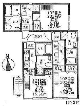 アパート-川崎市高津区下作延1丁目 間取り