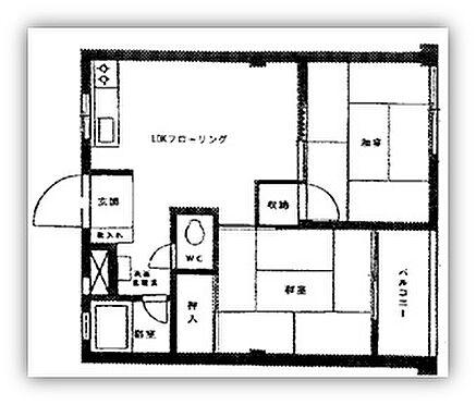 マンション(建物一部)-大田区中馬込1丁目 間取り