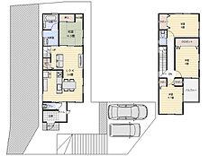 建物プラン例:建物価格1512万円、建物面積92.57平米
