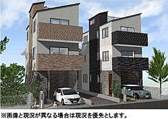 建物参考プラン(本物件は左側A区画)