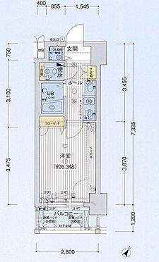 マンション(建物一部)-大阪市福島区鷺洲4丁目 間取り