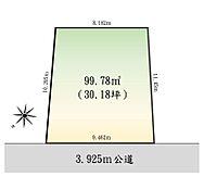 区画図(図面と現況が異なる場合は現況を優先と致します)